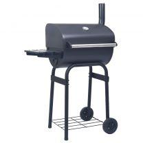 Houtskoolbarbecue roker met onderschap zwart