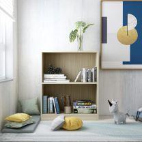 Boekenkast 60x24x74,5 cm spaanplaat sonoma eikenkleurig