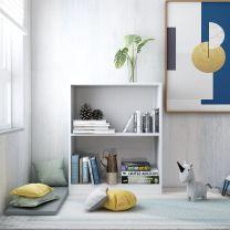 Boekenkast 60x24x74,5 cm spaanplaat hoogglans wit