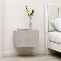 Nachtkastje 40x30x30 cm spaanplaat betongrijs