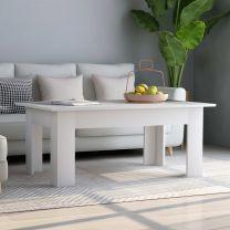 Salontafel 100x60x42 cm spaanplaat wit