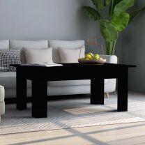 Salontafel 100x60x42 cm spaanplaat zwart