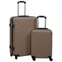 2-delige Harde kofferset ABS bruin