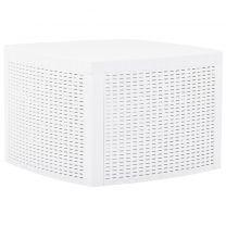 Bijzettafel 54x54x36,5 cm kunststof wit