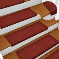Trapmatten 15 st 65x25 cm naaldvilt rood