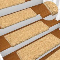 Tapijt traptreden 15 st 65x25 cm beige