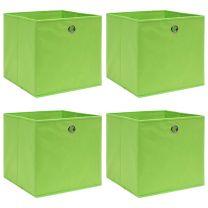 Opbergboxen 4 st 32x32x32 cm stof groen