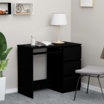 Bureau 90x45x76 cm spaanplaat zwart