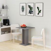Bistrotafel 60x60x75 cm spaanplaat grijs