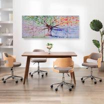 Wandprintset regenboom 200x80 cm canvas meerkleurig