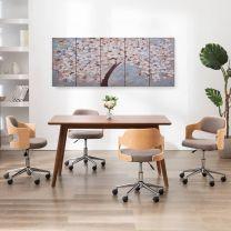 Wandprintset bloeiende boom 200x80 cm canvas meerkleurig