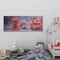 Wandprintset Londen 150x60 cm canvas meerkleurig