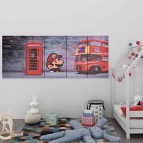 Wandprintset Londen 200x80 cm canvas meerkleurig