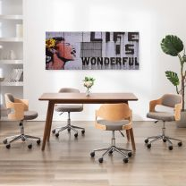 Wandprintset wonderful 200x80 cm canvas meerkleurig
