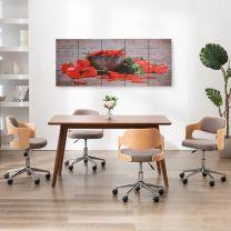 Wandprintset paprika 200x80 cm canvas meerkleurig