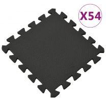 54x Vloermatten 4,86  EVA-schuim zwart
