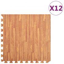 12x Puzzelsportmatten 4,32  EVA-schuim houtnerfprint