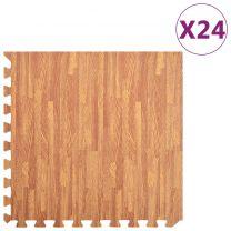 24x Puzzelsportmatten 8,64  EVA-schuim houtnerfprint