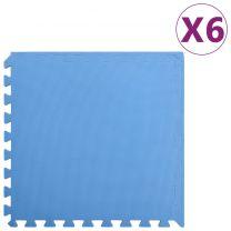 6x Puzzelsportmatten 2,16  EVA-schuim blauw
