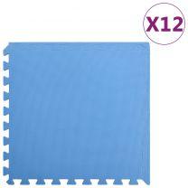 12x Puzzelsportmatten 4,32  EVA-schuim blauw