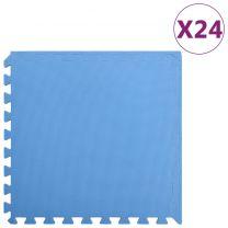 24x Puzzelsportmatten 8,64  EVA-schuim blauw