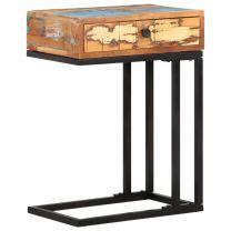 Bijzettafel U-vormig 45x30x61 cm massief gerecycled hout