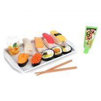 Food Market Sushi Set met Eetstokjes + Dienblad + Saus