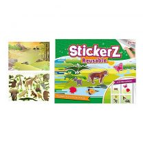 StickerZ Stickerboek Verschillende Dieren met Herbruikbare (Raam) Stickers