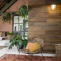 WallArt Planken hout-look natuurlijk eikenhout zadelbruin