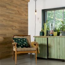 WallArt Planken hout-look gerecycled eikenhout roestbruin