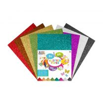 Basic Craft A4 Glitterpapier 150 grams 8 Stuks