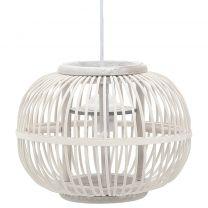 Hanglamp bol 40 W E27 30x22 cm wilgen wit