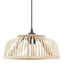 Hanglamp halfrond 40 W E27 30x12 cm wilgen