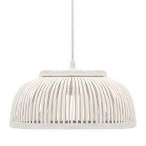 Hanglamp halfrond 40 W E27 30x12 cm wilgen wit