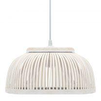 Hanglamp halfrond 40 W E27 37x15,5 cm wilgen wit