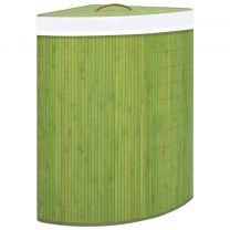 Hoekwasmand 60 L bamboe groen