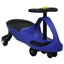 Loopauto wiebelend met toeter blauw