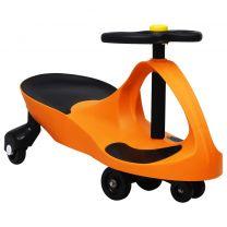 Loopauto wiebelend met toeter oranje