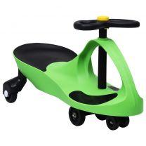 Loopauto wiebelend met toeter groen
