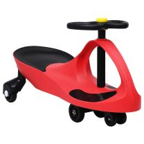 Loopauto wiebelend met toeter rood