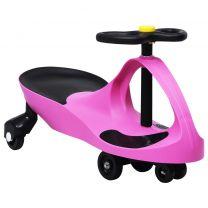 Loopauto wiebelend met toeter roze