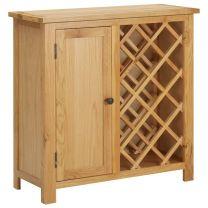 Wijnkast voor 11 flessen 80x32x80 cm massief eikenhout