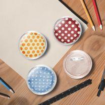 Buttons met spelden 100 st 58 mm acryl