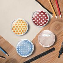 Buttons met spelden 100 st 44 mm acryl