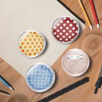 Buttons met spelden 100 st 37 mm acryl