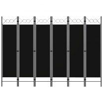 Kamerscherm met 6 panelen 240x180 cm zwart