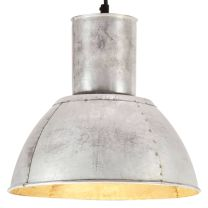 Hanglamp rond 25 W E27 28,5 cm zilverkleurig