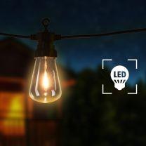 Festoenlampen 20 st ovaal tuinkerstversiering 23 m