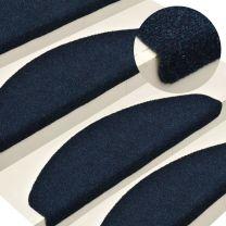 Trapmatten zelfklevend 15 st 65x21x4 cm naaldvilt marineblauw