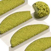Trapmatten 15 st 56x17x3 cm groen